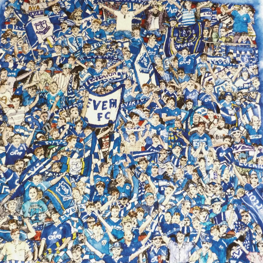 At-the-Match-Everton-FC-Crowd-painting-by-Celia-John
